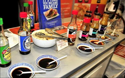 gian hàng ẩm thực Nhật