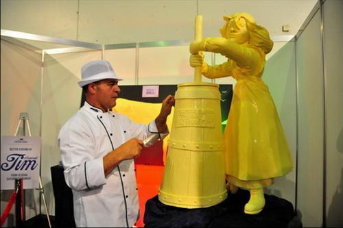 trình diễn tạo hình bơ