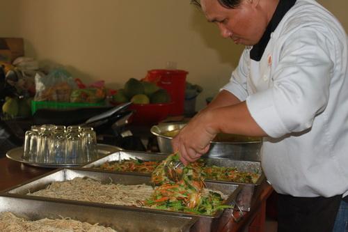 nấu ăn chay ở chùa huệ nghiêm