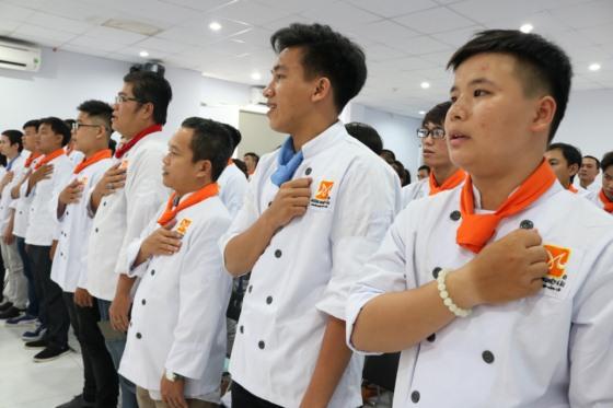 học viên tham gia khai giảng