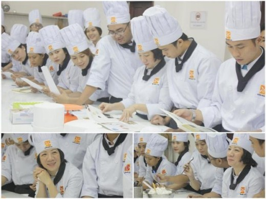 học viên bếp bánh