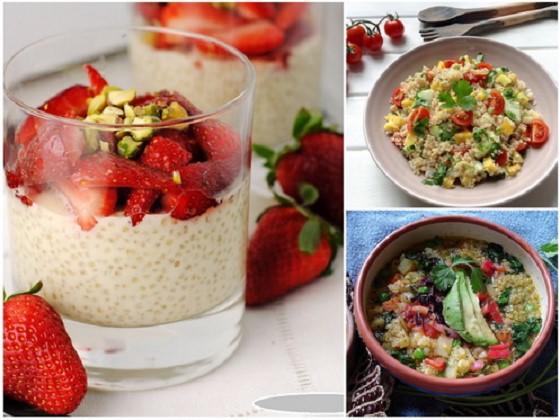Banh ngot Quinoa, Salad Quinoa, Sup Quinoa - dac san noi tieng peru