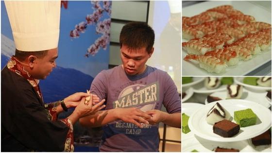 khach-moi-giao-luu-mon-sushi-tom-va-thuong-thuc-mon-sushi-cung-thay-nguyen-thanh-hai