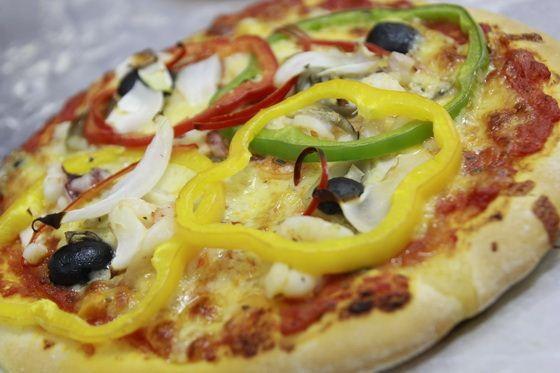 pizza sau khi thành phẩm