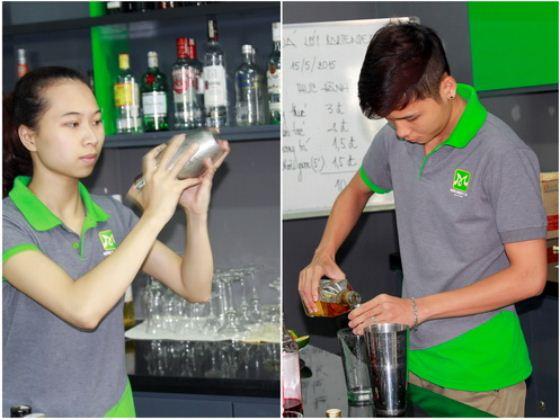 học viên lớp bartender 10