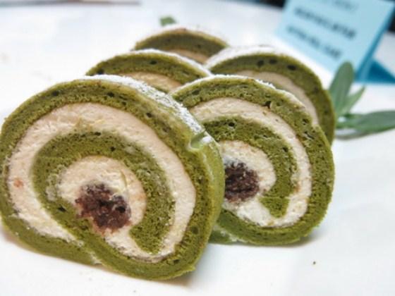 thành phẩm matcha roll cake