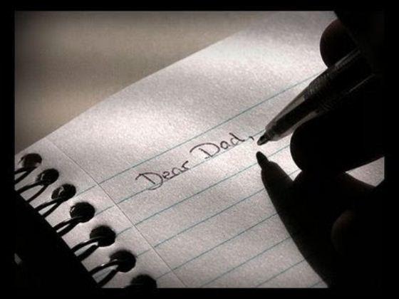 thư bày tỏ với cha yêu