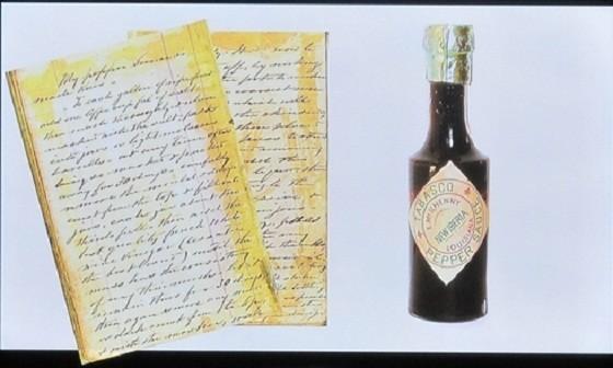 Bản ghi chép công thức sốt Tabasco® của Edmund McIlhenny