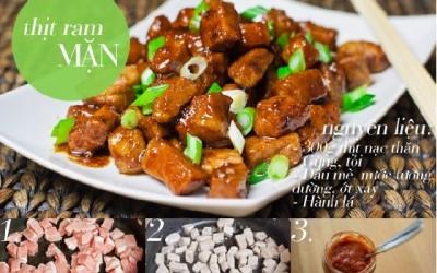 hình ảnh món thịt ram mặn