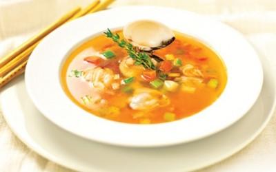 súp nghêu rau củ
