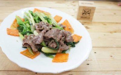 Thịt bò xào cải ngọt bồi bổ cơ thể