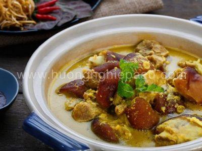 Chân giò nấu giả cầy ăn với cơm hoặc bún tươi đều ngon