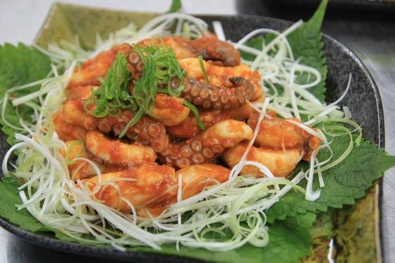 Bạch tuộc xào cay kiểu Hàn Quốc