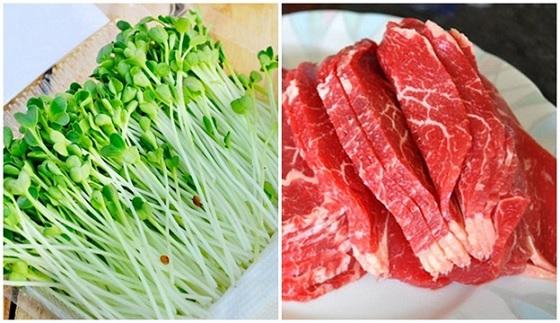 Hai nguyên liệu quan trọng khi làm salad rau mầm