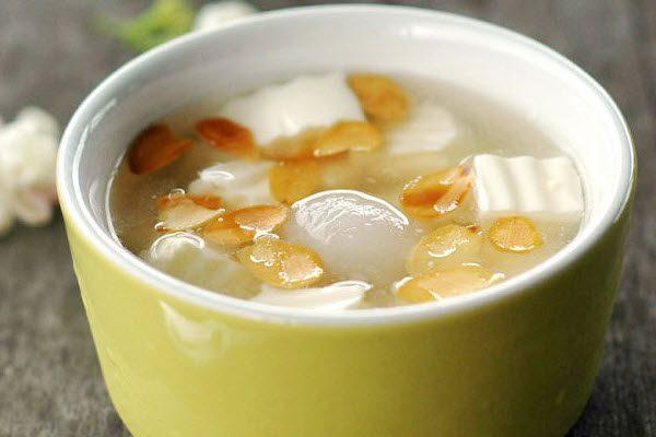Chè khúc bạch bằng lá gelatin