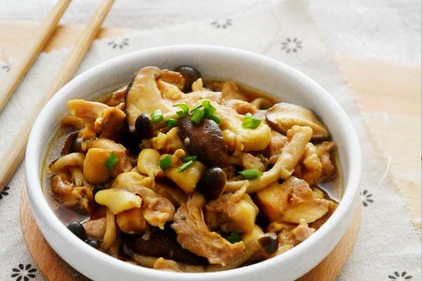Thịt gà mềm kết hợp cùng nấm