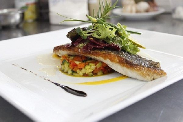 Sea bass fish fillet