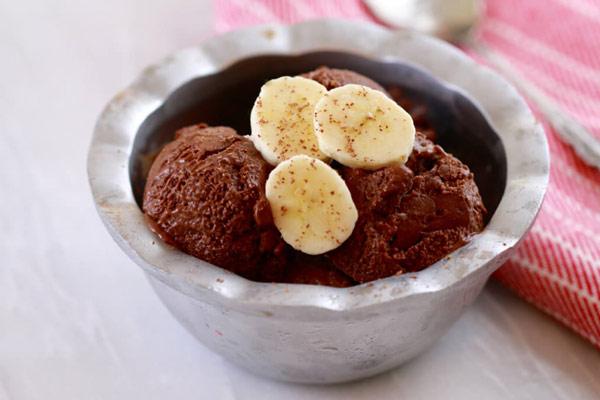 kem chocolate chuối