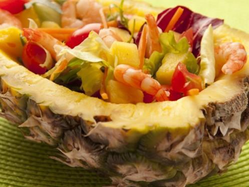 Cách nấu ăn món salad tôm dứa đẹp mắt ngon miệng