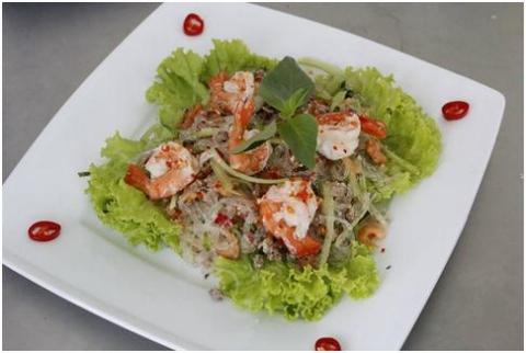 salad miến tôm thành phẩm