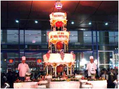 bánh cưới lớn nhất Việt Nam