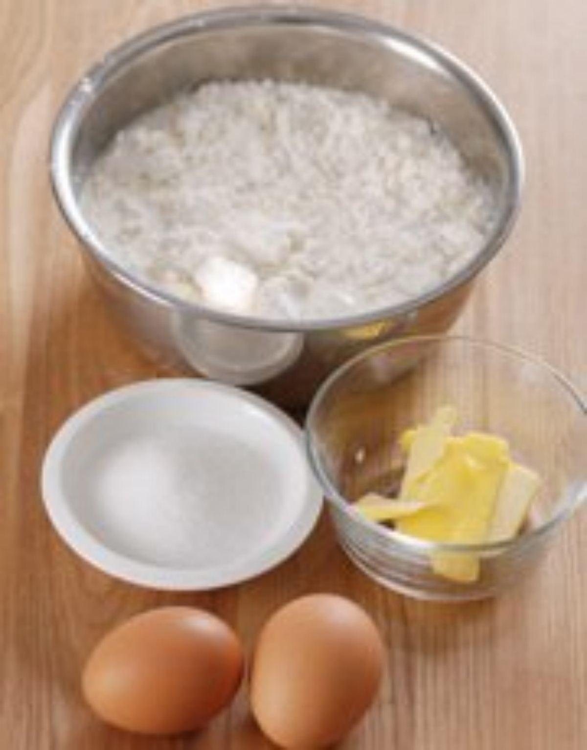 nguyên liệu làm bánh kép dâu tây