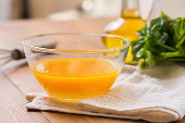 Nước sốt cam sau khi đun