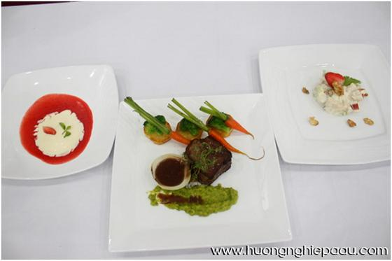 các món ăn trong set menu âu