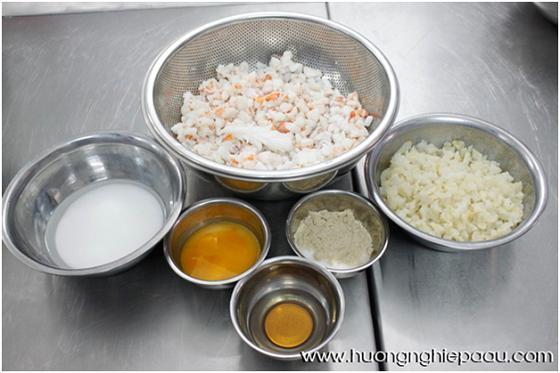 nguyên liệu soup bong bóng hải sản