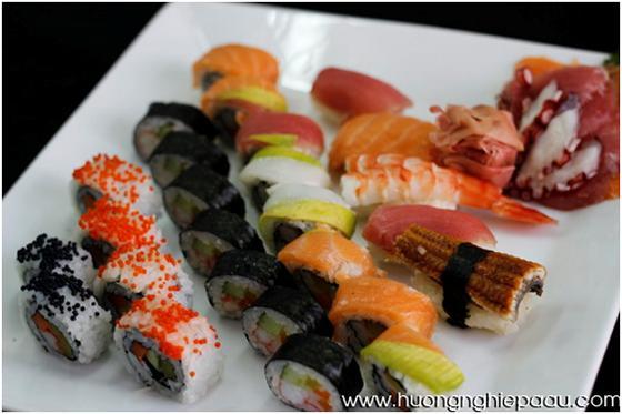 sushi sashimi và maki