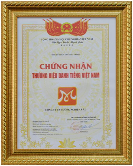 bằng khen doanh hiệu doanh nhân Việt Nam
