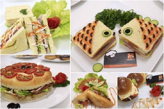 nhung chiec banh Hamburger va Sandwich cuc ky de thuong
