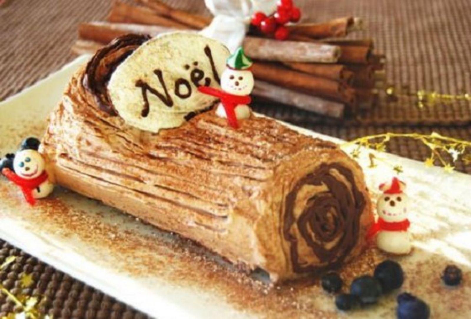 chiếc bánh khúc cây hấp dẫn