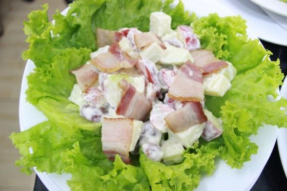 salad trái cây thành phẩm thi