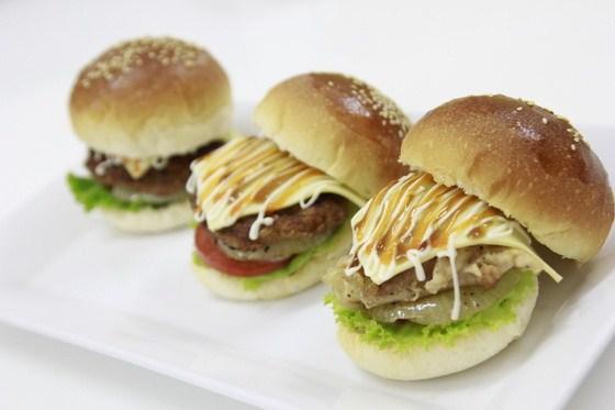 thành phẩm hamburger nhật