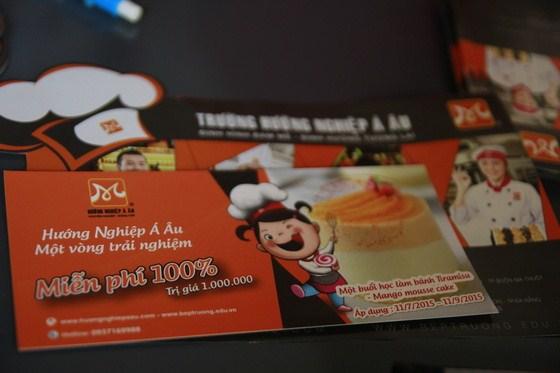 nhận voucher trải nghiệm ngành bếp thú vị