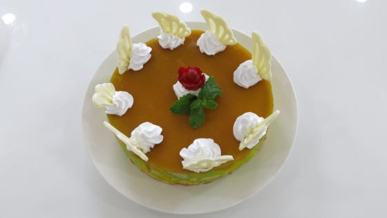 mango cheese mousse