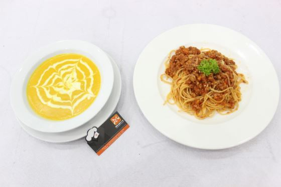 soup bí đỏ mì spaghetti alla bolognese