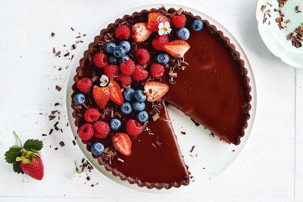 Món bánh chocolate tart