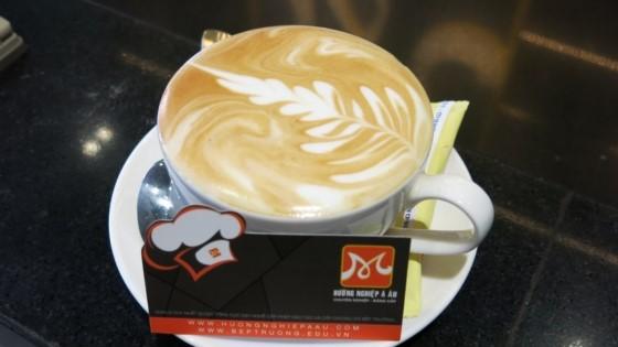 latte với nét vẽ đầy nghệ thuật