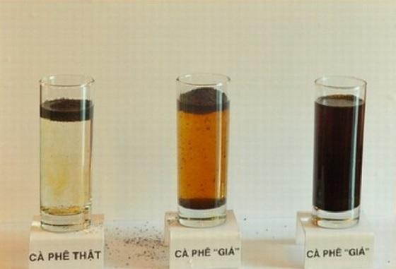 Thí nghiệm cà phê nguyên chất hay không nguyên chất