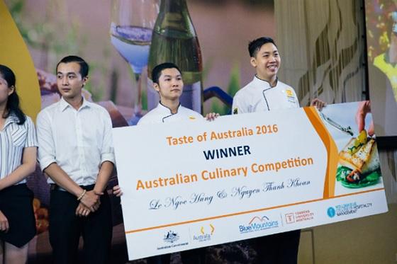Học Viên Hướng Nghiệp Á Âu thắng giải cuộc thi TASTE OF AUSTRALIA