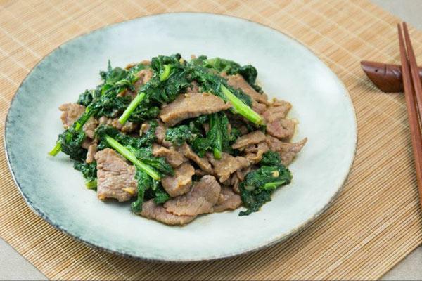 Món thịt bò xào cải ngọt