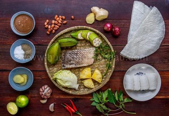 Nguyên liệu để làm món cá tai tượng chiên xù