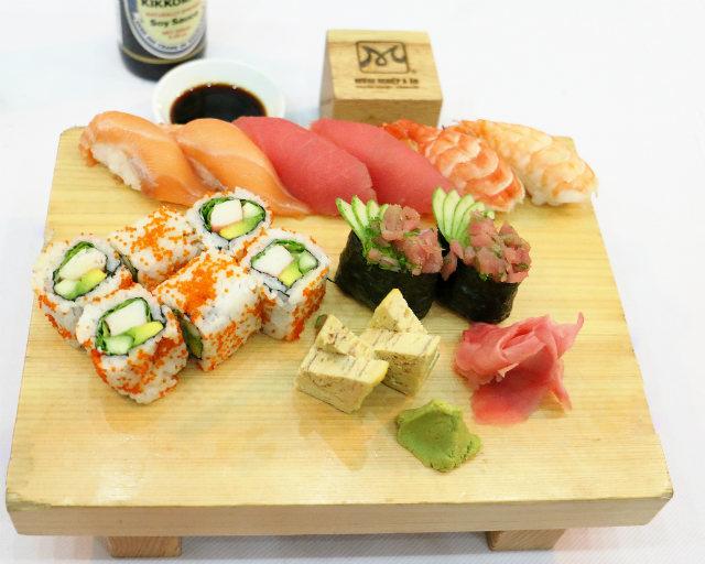 học món nhật set sushi