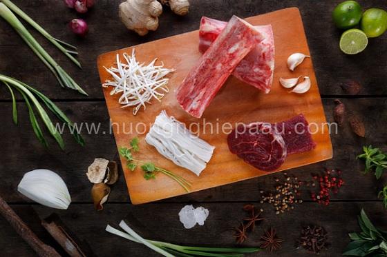 Nguyên liệu nấu phở bò hà nội