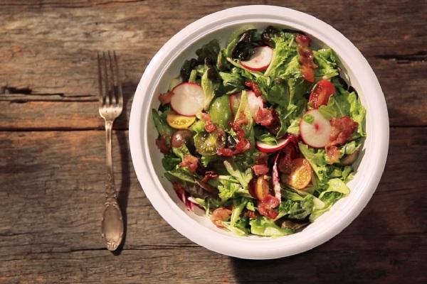 salad thịt xông khói - Bacon salad