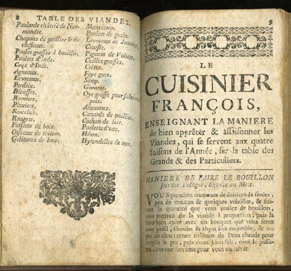 sách dạy nấu ăn đầu tiên tại Pháp