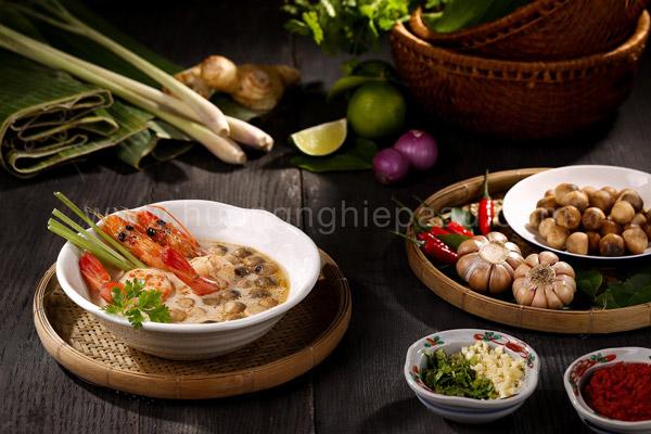 Nguyên liệu làm món tom yum Kung