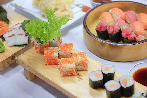 thực hành set menu món Nhật